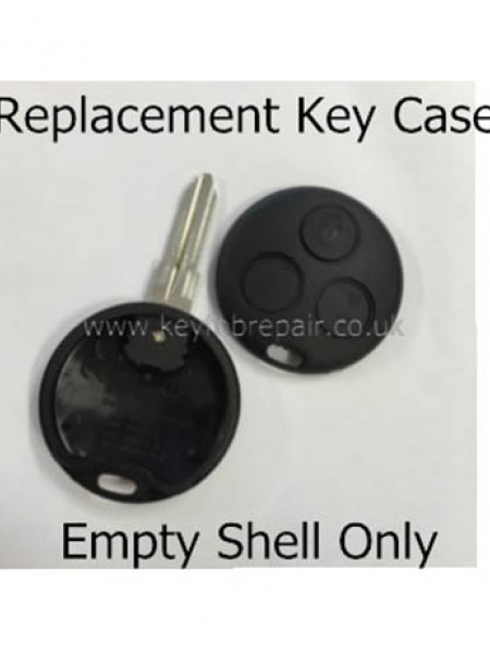 Smart 3 Button Key Case With Blank Key Blade